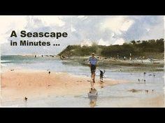 Watercolor Landscape Tutorial, Watercolor Video, Watercolor Horse, Beach Watercolor, Watercolor Tutorials, Art Tutorials, Acrylic Painting Tips, Watercolor Painting Techniques, Watercolour Painting