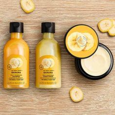 Banana Truly Nourishing Hair Mask, Shampoo & Conditioner The BodyShop The Body Shop, Body Shop At Home, Banana Hair Mask, Banana For Hair, Body Shop Skincare, Body Shop Products, Sephora, Beauty Kit, Perfume