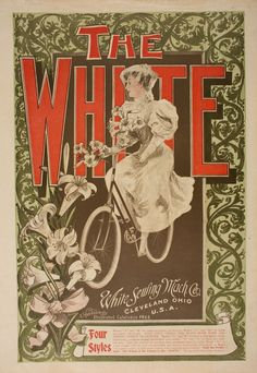 Brand New poster Ships rolled in a sturdy corrugated tube Vintage Advertisements, Vintage Ads, Vintage Prints, Vintage Posters, Strange Flowers, Rare Flowers, Bike Poster, Poster Ads, White Sewing Machine
