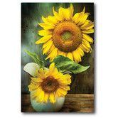 Found it at Wayfair - Farmhouse Canvas Sunflowers Pitcher I Gallery Wrapped Canvas