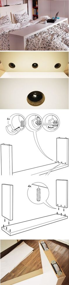 How To Assemble An Ikea MALM Occasional Table (191cm * 36cm * 73.5cm ,