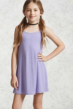 Girls ribbed cami dress (kids) tween fashions preteen girls fashion, cute g Young Girl Fashion, Preteen Girls Fashion, Girls Fashion Clothes, Little Girl Fashion, Kids Fashion, Fashion Outfits, Style Clothes, Fashion Fashion, Fashion Trends
