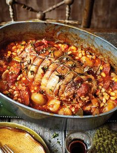 This Spanish pot-roasted lamb with chorizo and white beans saves on washing up, but more importantly packs the most incredible smoky flavours after 4 hours in the oven...