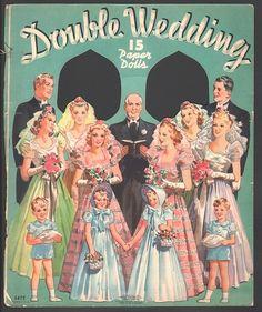 Vintage Brides:  1939 Double Wedding paper dolls