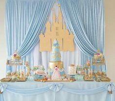 Mesa de postres Cinderella tema