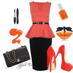 """Orange Chic"" by stylisheve on Polyvore"