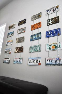 Kara's Party Ideas Vintage Garage First Birthday Party {Planning, Ideas, Decor, Banner} Garage Theme Bedroom, Car Themed Bedrooms, Car Bedroom, Bedroom Themes, License Plate Crafts, Old License Plates, License Plate Art, License Plate Ideas, Vintage Car Party