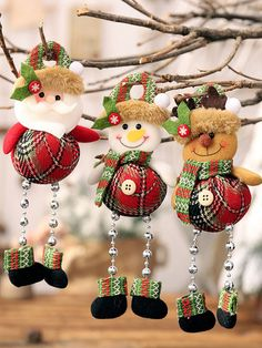 Special Offer of Christmas Santa Claus Snowman Deer with Beading Pendants Xmas Tree Ornaments DIY Crafts Home New Year Party Decorations Cheap Christmas, Plaid Christmas, Christmas Crafts, Christmas Decorations Online, Holiday Ornaments, Diy Arts And Crafts, Diy Crafts, Silvester Party, Theme Noel