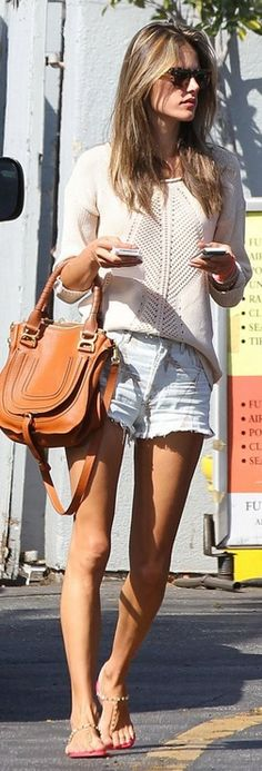 Sweater – Heartloom  Bag – Chloe  Shorts – Citizens of Humanity