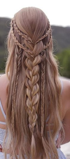 Teen Hairstyles, Wedding Hairstyles For Long Hair, Pretty Hairstyles, Hairstyles 2018, Everyday Hairstyles, Amazing Hairstyles, Elvish Hairstyles, Boho Hairstyles For Long Hair, Quick Braided Hairstyles
