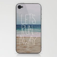 Let's Run Away III iPhone & iPod Skin by Leah Flores - $15.00