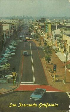 San Fernando Rd in downtown San Fernando.  I remember the Fiesta parades.   The old JC Penny, etc.,