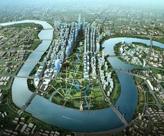 Tianjin Eco-city, the first ecologic city in the world is in China.