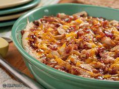 Loaded BBQ Baked Potato Casserole #Dinner #Recipe