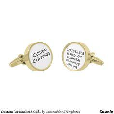 Custom Personalized Cufflinks Blank Template
