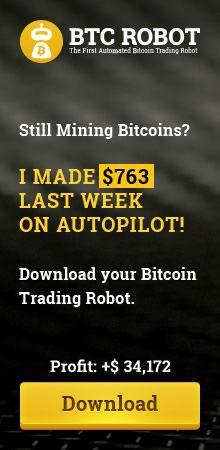"""Bitcoin Robot Short Tower Banner width=""""220"""" height=""""450"""""""