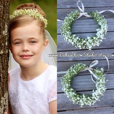 36 new ideas for flowers crown hairstyle toddler # crown Braids toddler Wedding Dresses With Flowers, Bridal Hair Flowers, Flower Crown Wedding, Flower Girl Headpiece, Flower Braids, Crown Braids, Flower Crowns, Bridesmaid Hair Medium Length, Bridesmaid Hair Half Up