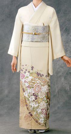 Rental houmongi designed by YUMI KATSURA.