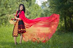 Modern Hmong Clothes Little red Hmong riding hood :)