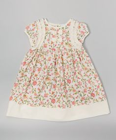 This Pink Floral Ruffle Cap-Sleeve Dress - Infant & Toddler is perfect! #zulilyfinds