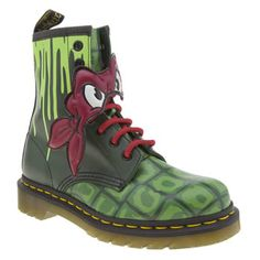 Dr Martens Green Ninja Turtles Raphael Womens Boots