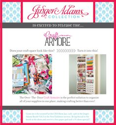 CHA Release for Jinger Adams Crafty Armoire