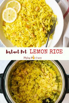 Flavorful, tangy & crunchy Lemon Rice from South India, made as a one-pot dish in Instant Pot or Pressure Cooker. Make this Lemon Rice in less than 30 mins. Indian Food Recipes, Whole Food Recipes, Cooking Recipes, Healthy Recipes, Vegan Indian Food, Instapot Vegetarian Recipes, Indian Vegetarian Recipes, Ramen Recipes, Cheap Recipes