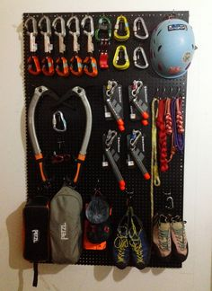 My Climbing Gear Wall