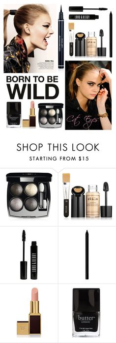 Born to be wild - cat eyes by stylebycharlene on Polyvore featuring beauty, Stila, Chanel, Tom Ford, Lord & Berry, Giorgio Armani, Anna Sui, Beauty, makeup and trend