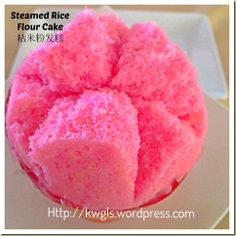 Huat Kueh- Chinese Steamed Rice Flour Cake–A Cake That Brings You Luck And Prosperity Chinese Bun, Chinese Cake, Chinese Food, Asian Snacks, Asian Desserts, Chinese Desserts, Asian Recipes, Rice Cake Recipes, Rice Cakes