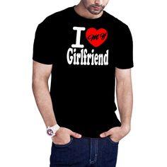 Men's I Love My Girlfriend Boyfriend Girlfriend couple's t-shirt by Calidreamers on Etsy