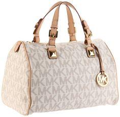 MICHAEL Michael Kors Logo Grayson Large Satchel Handbag