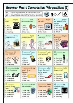 Grammar Meets Conversations-WH Questions Worksheet. Repinned by SOS Inc. Resources.  Follow all our boards at http://pinterest.com/sostherapy  for therapy resources.