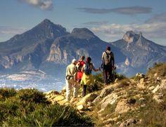 Walking tours in the Costa Blanca Mountain Spain