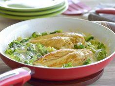 Receta de Pollo Alfredo con Brócoli