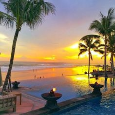 Sunset at The Legian, Bali, Indonesia