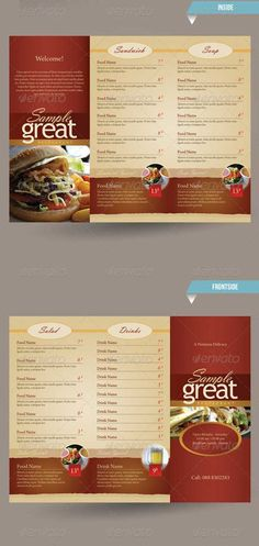 restaurant cafe take out menu template menu miscellaneous menu design restaurant menu design menu template