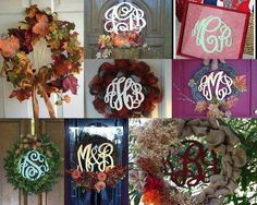 Great ways to use our awesome new monograms...is your front door ready for fall?