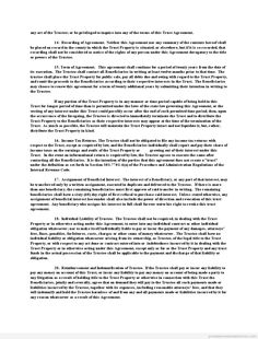 Printable Sample pp trust Form