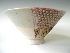 Hand Built Ice Cream Bowl - Modern Rustic Screen Pattern. $28.00, via Etsy.