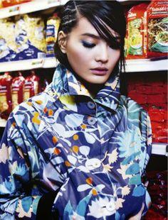awesome Glamour França Fevereiro 2014 | Li Wei Shan por Naomi Yang  [Capa+Editorial]
