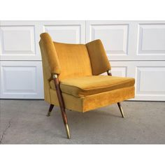 Image of Mid Century Yellow Floating Lounge Chair