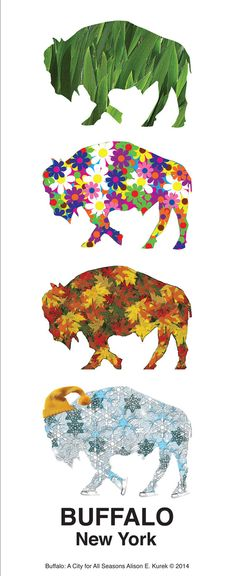 Buffalo Print   Buffalo Art Work  Buffalo A by SilentMyloStudio, $19.00