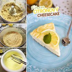 Fitness citrónový cheesecake - zdravý recept Bajola Cantaloupe, Cheesecake, Deserts, Fruit, Fitness, Recipes, Food, Cheesecakes, Recipies