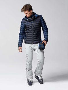 Bogner Men Stephano Lightweight Jacket - Aruba Blue Ski Fashion, Mens Fashion, Mens Ski Wear, Snowboarding Outfit, Mens Skis, Lightweight Jacket, Skiing, Bomber Jacket, Winter Jackets
