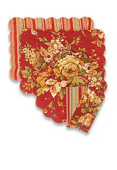 C&F Rossa Reversible Placemat and Napkin