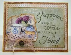 Coffee and Friends stamp by  - Two Paper Divas