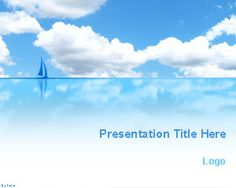 Blue Sea and Sky PowerPoint Template | Free Powerpoint Templates