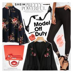 """It-Girl: Model Off Duty"" by vanjazivadinovic ❤ liked on Polyvore featuring Hermès, Bobbi Brown Cosmetics, Givenchy, Birchrose + Co., Sheinside, stripedpants and polyvoreeditorial"