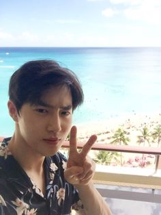 Suho - 160907 Official SMTown Vyrl update      Credit: Official SMTown Vyrl.